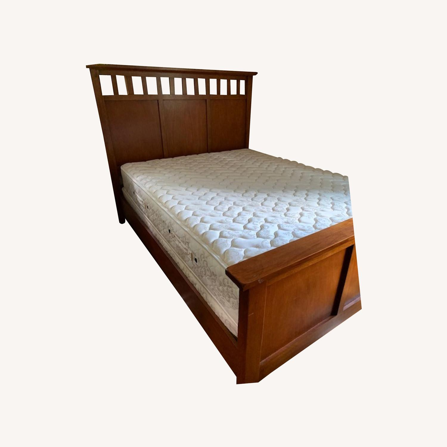 Crate & Barrel Solid Wood Bed and Panel - image-0