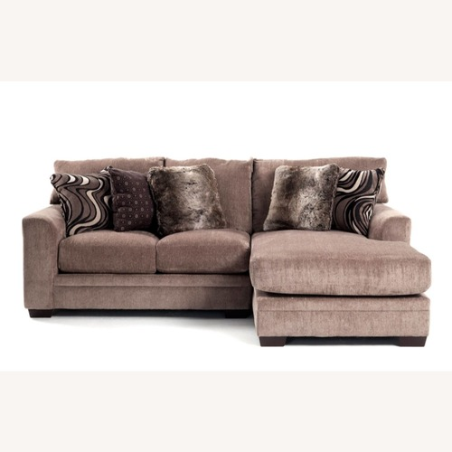 Used Chenille 2 Piece Left Arm Sectional + Chaise for sale on AptDeco