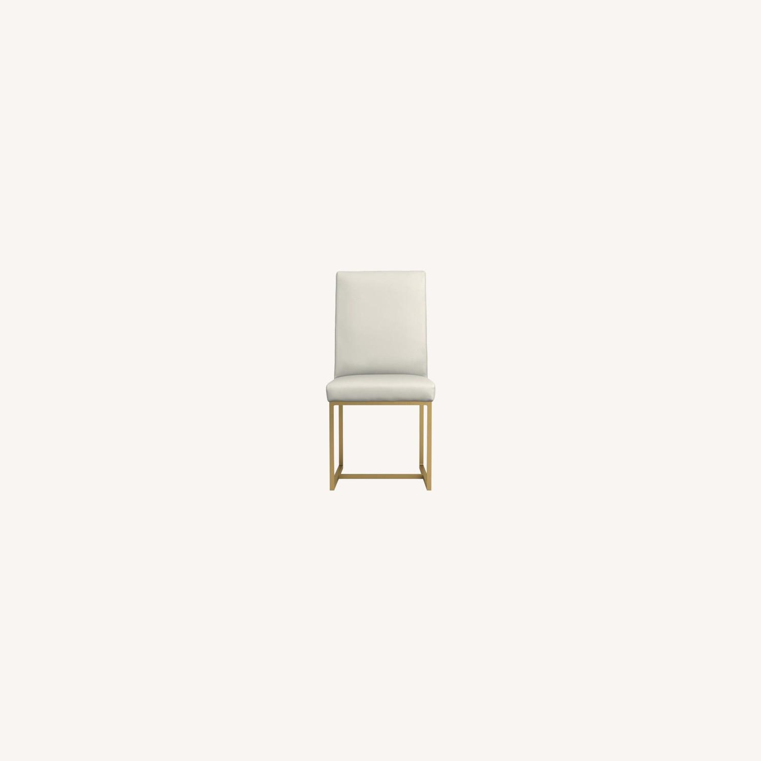 Contemporary Side Chair In Grey Leatherette - image-5