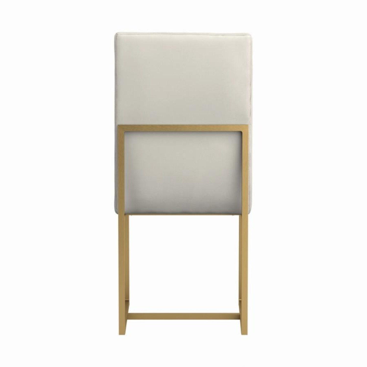 Contemporary Side Chair In Grey Leatherette - image-2