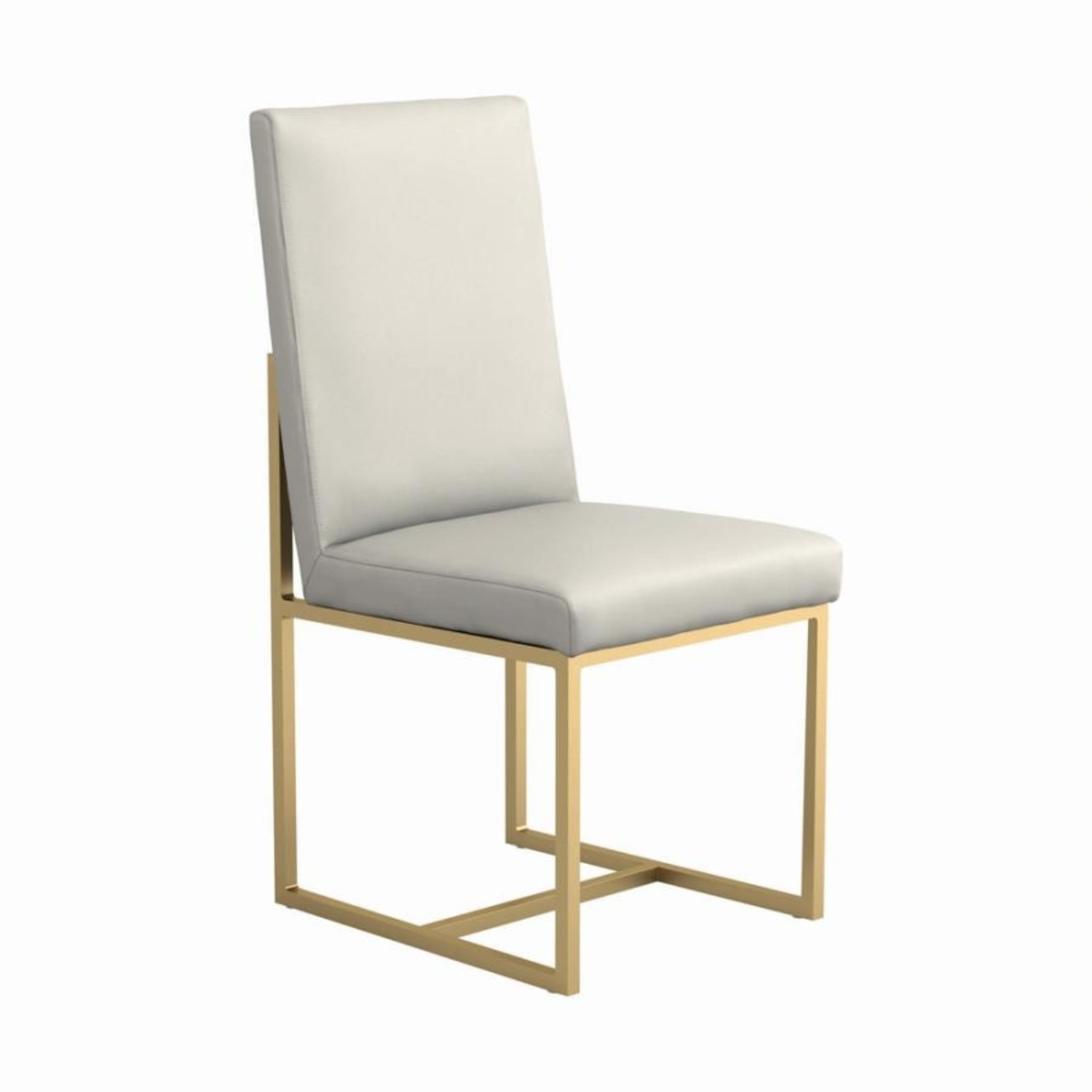 Contemporary Side Chair In Grey Leatherette - image-0