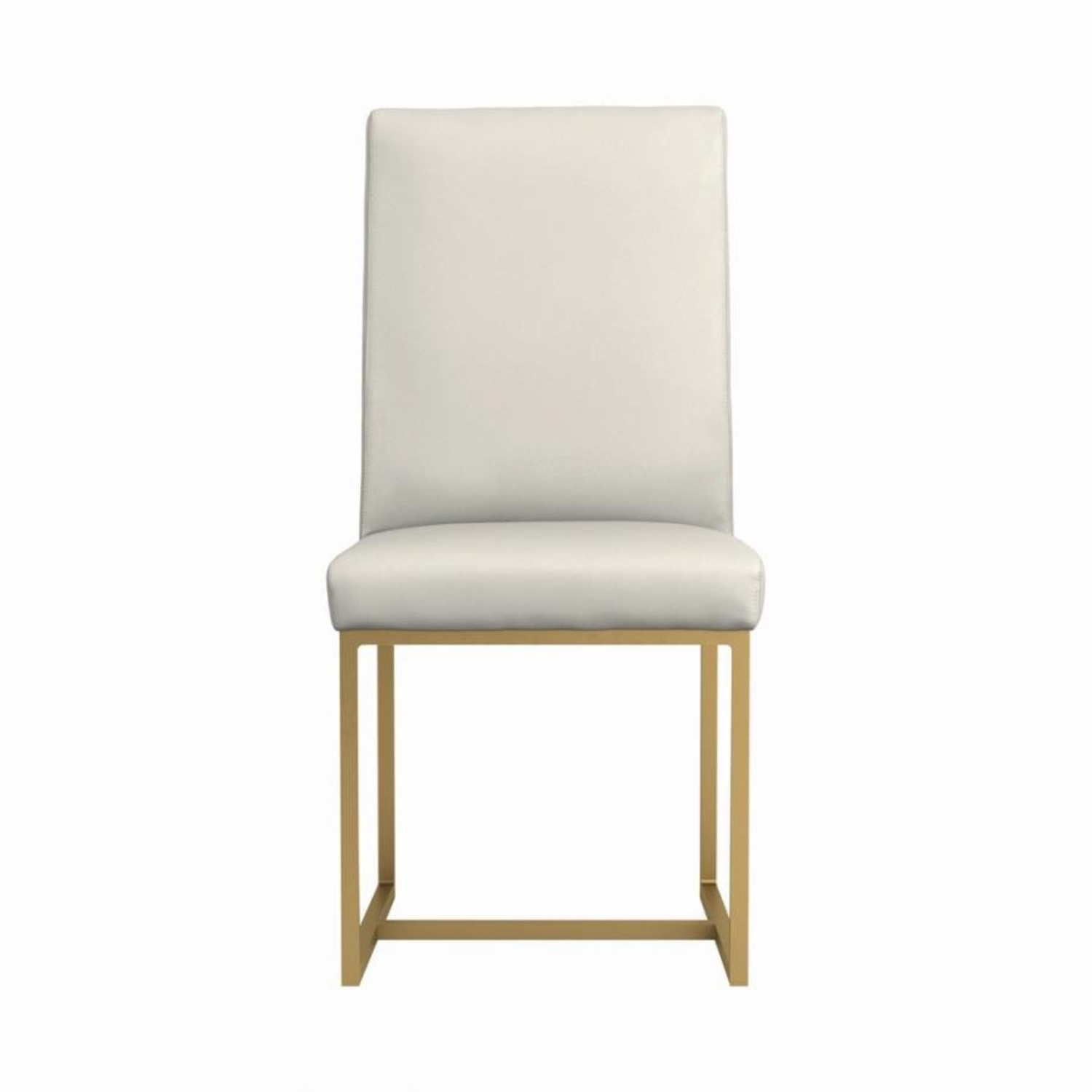 Contemporary Side Chair In Grey Leatherette - image-1