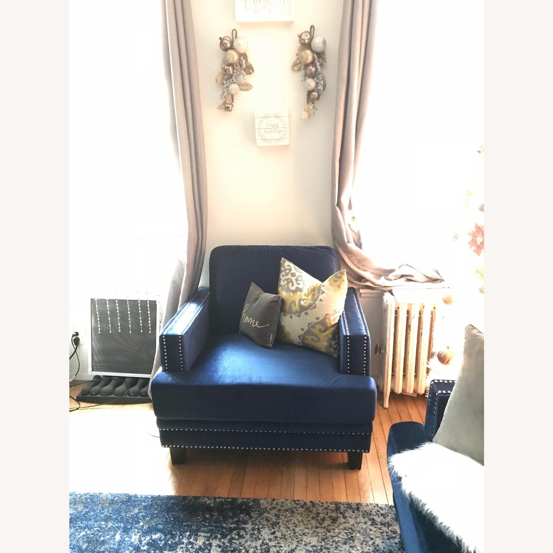 Kia Armchair With Silver Studding - image-4