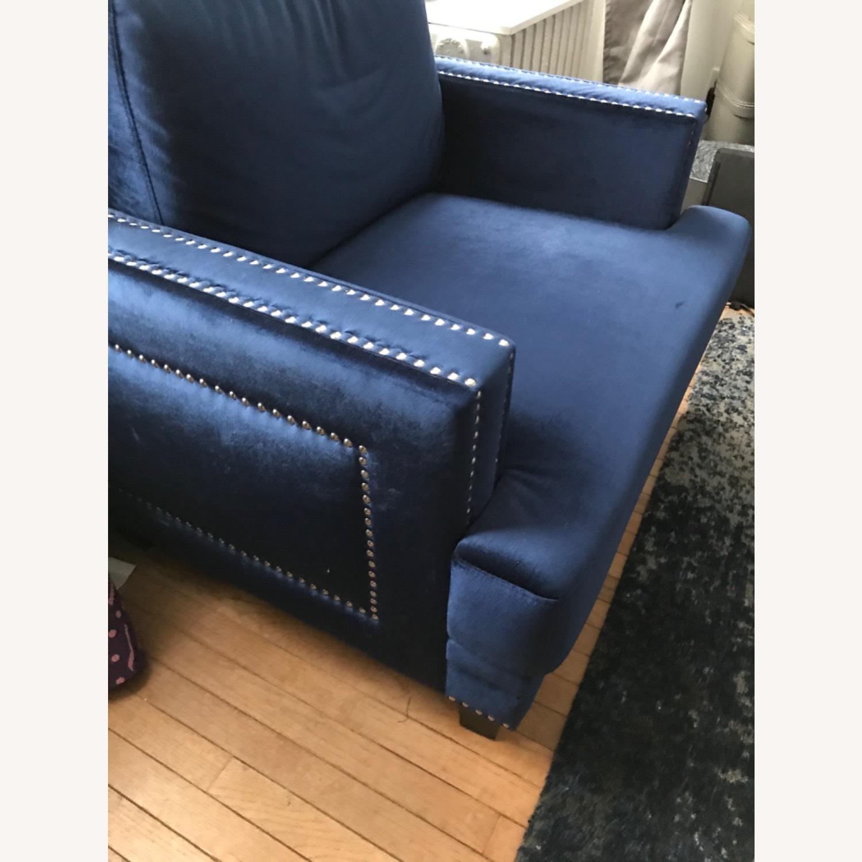 Kia Armchair With Silver Studding - image-2