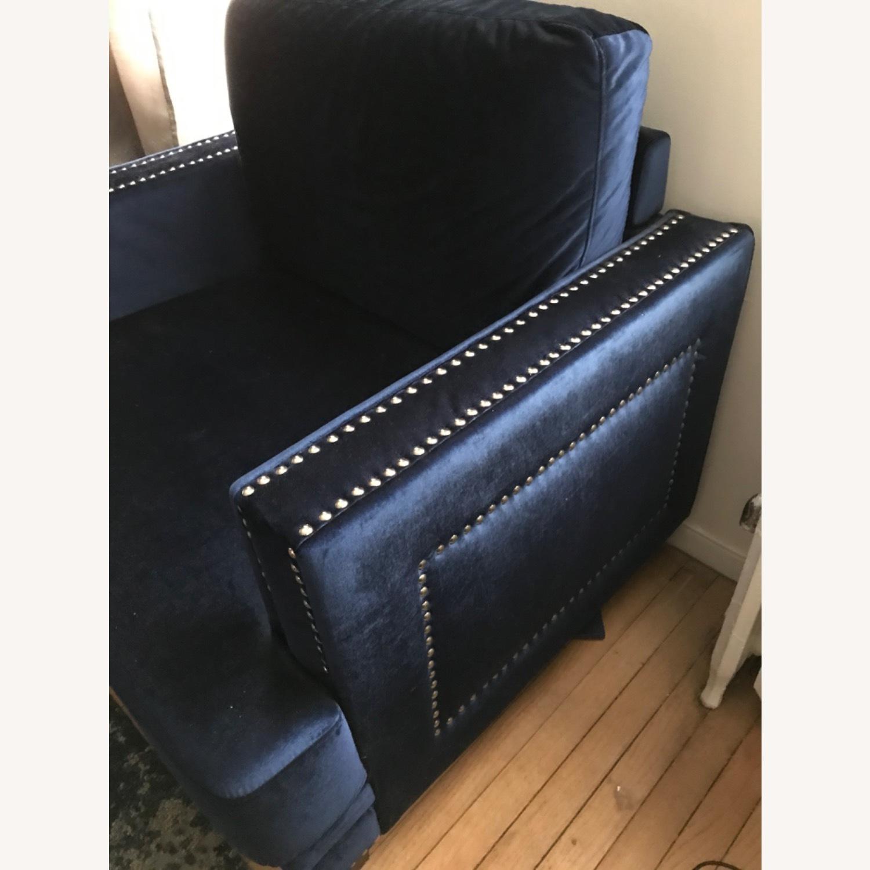 Kia Armchair With Silver Studding - image-1