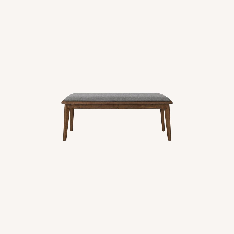 Modern Bench In Natural Walnut Finish - image-5
