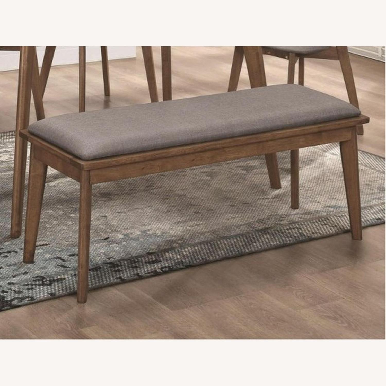 Modern Bench In Natural Walnut Finish - image-3