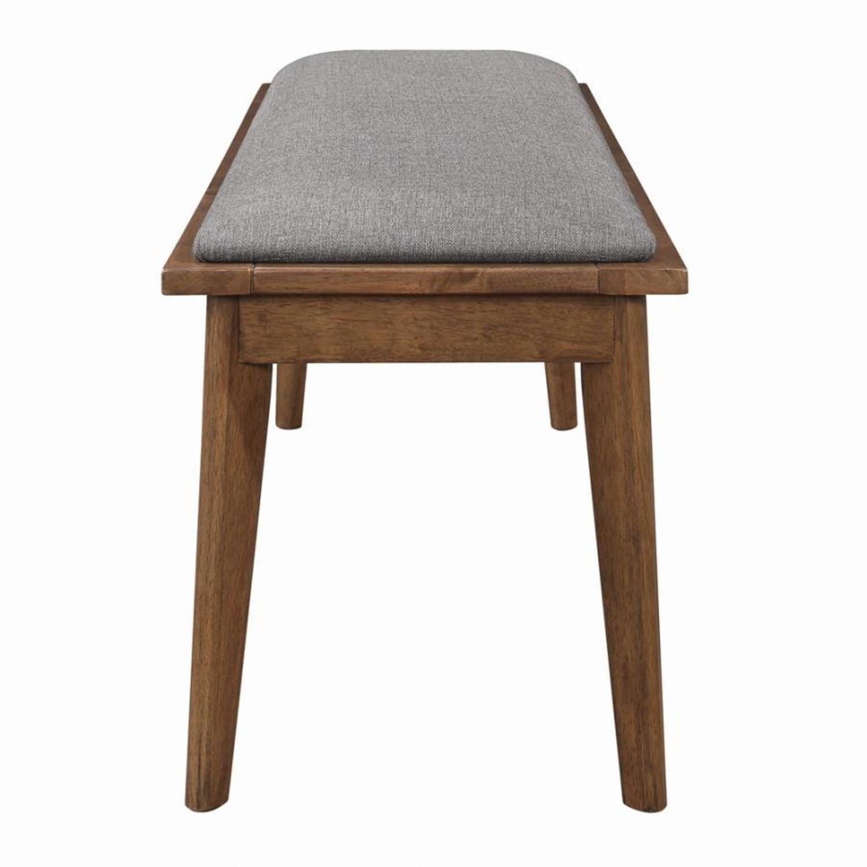 Modern Bench In Natural Walnut Finish - image-2
