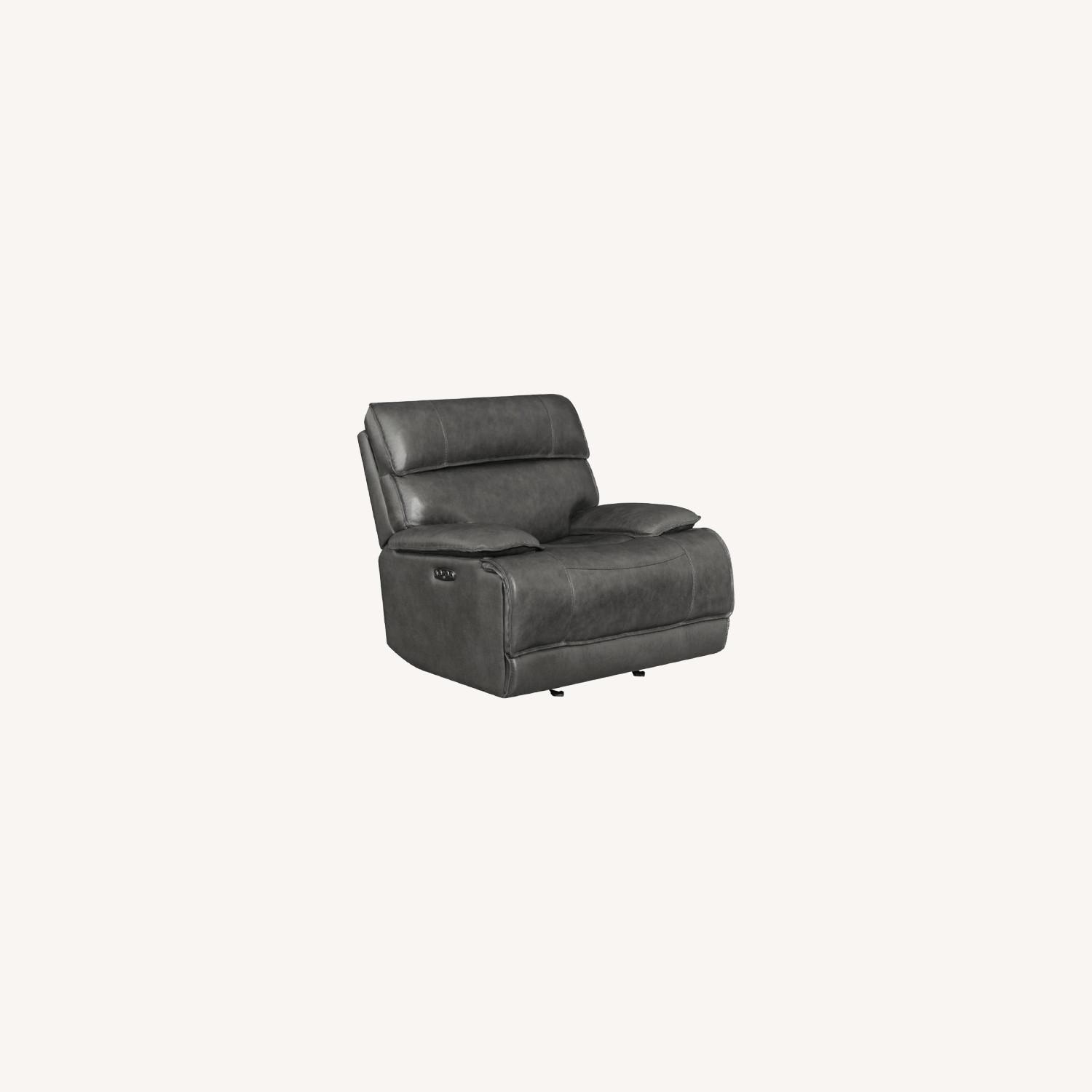 Power Glider Recliner In Charcoal Leather - image-10