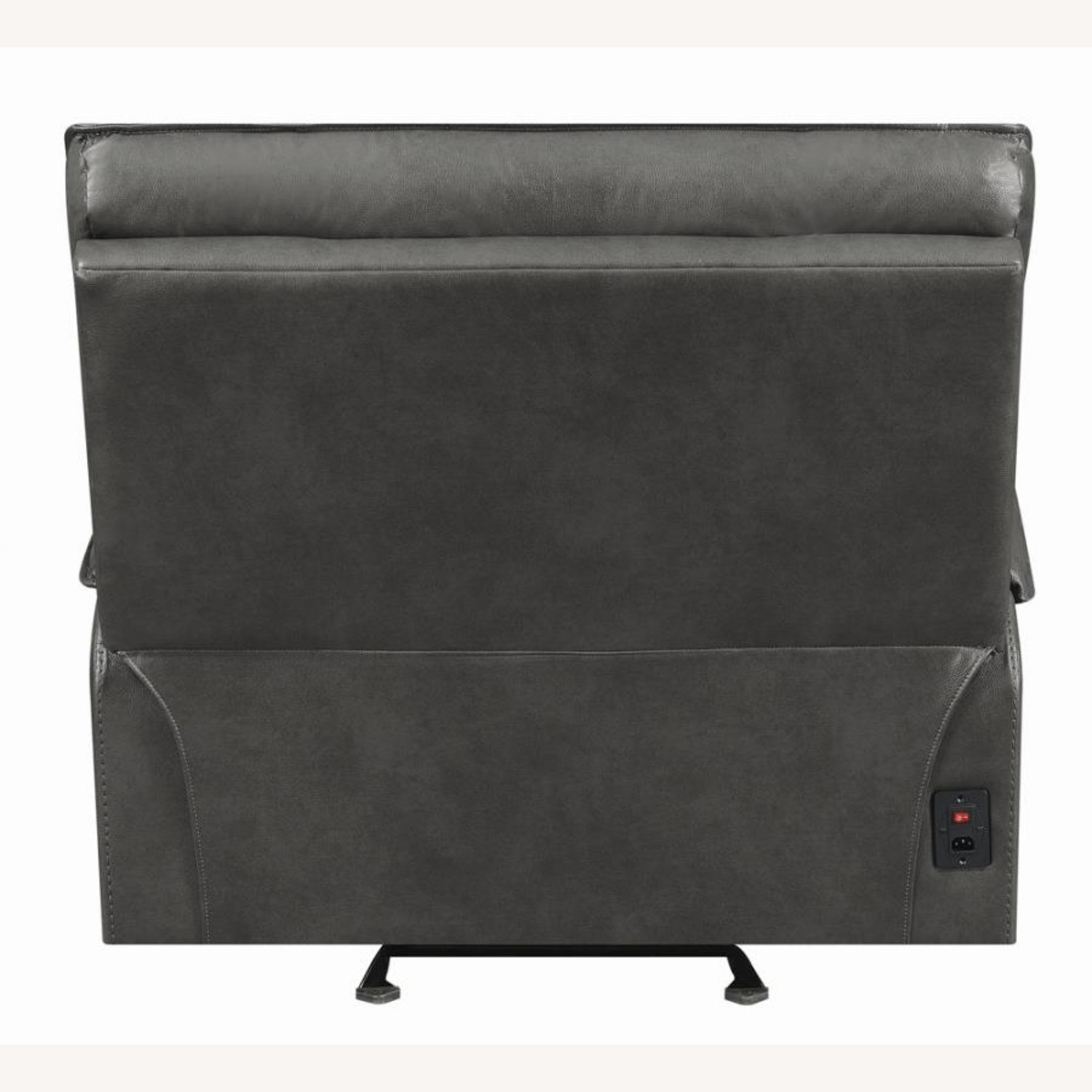 Power Glider Recliner In Charcoal Leather - image-4