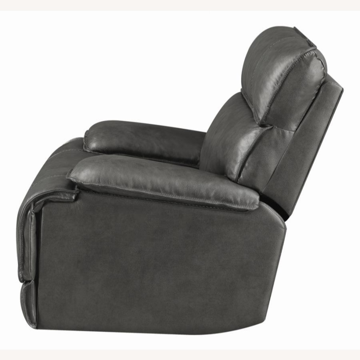 Power Glider Recliner In Charcoal Leather - image-3