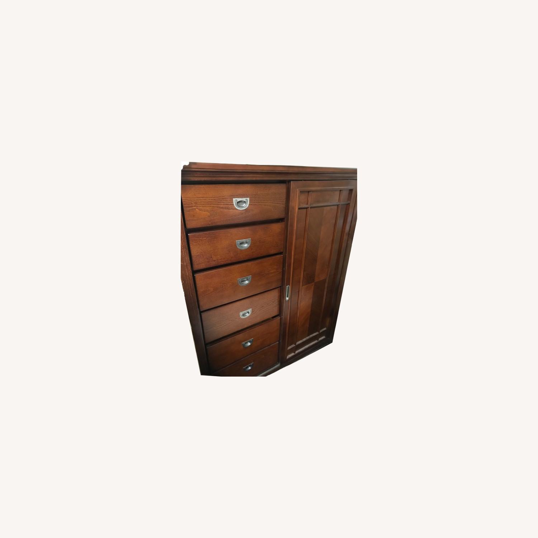 Bob's Furniture Dark Brown Gentleman's Chest - image-0