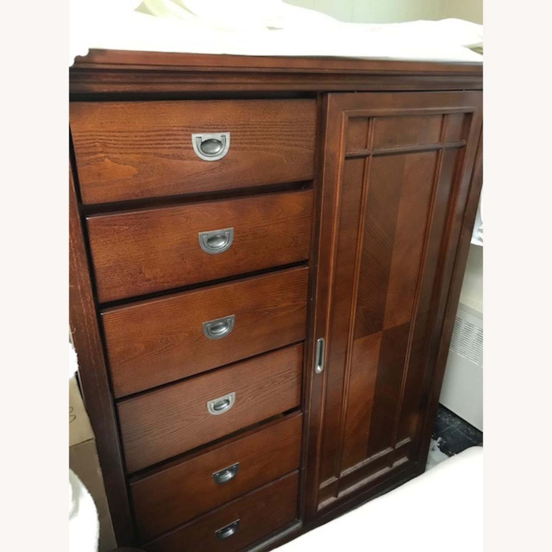 Bob's Furniture Dark Brown Gentleman's Chest - image-1
