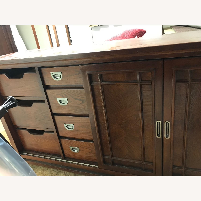 Bob's Furniture Dark Brown Dresser - image-4
