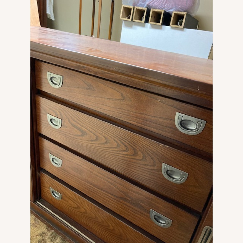 Bob's Furniture Dark Brown Dresser - image-6