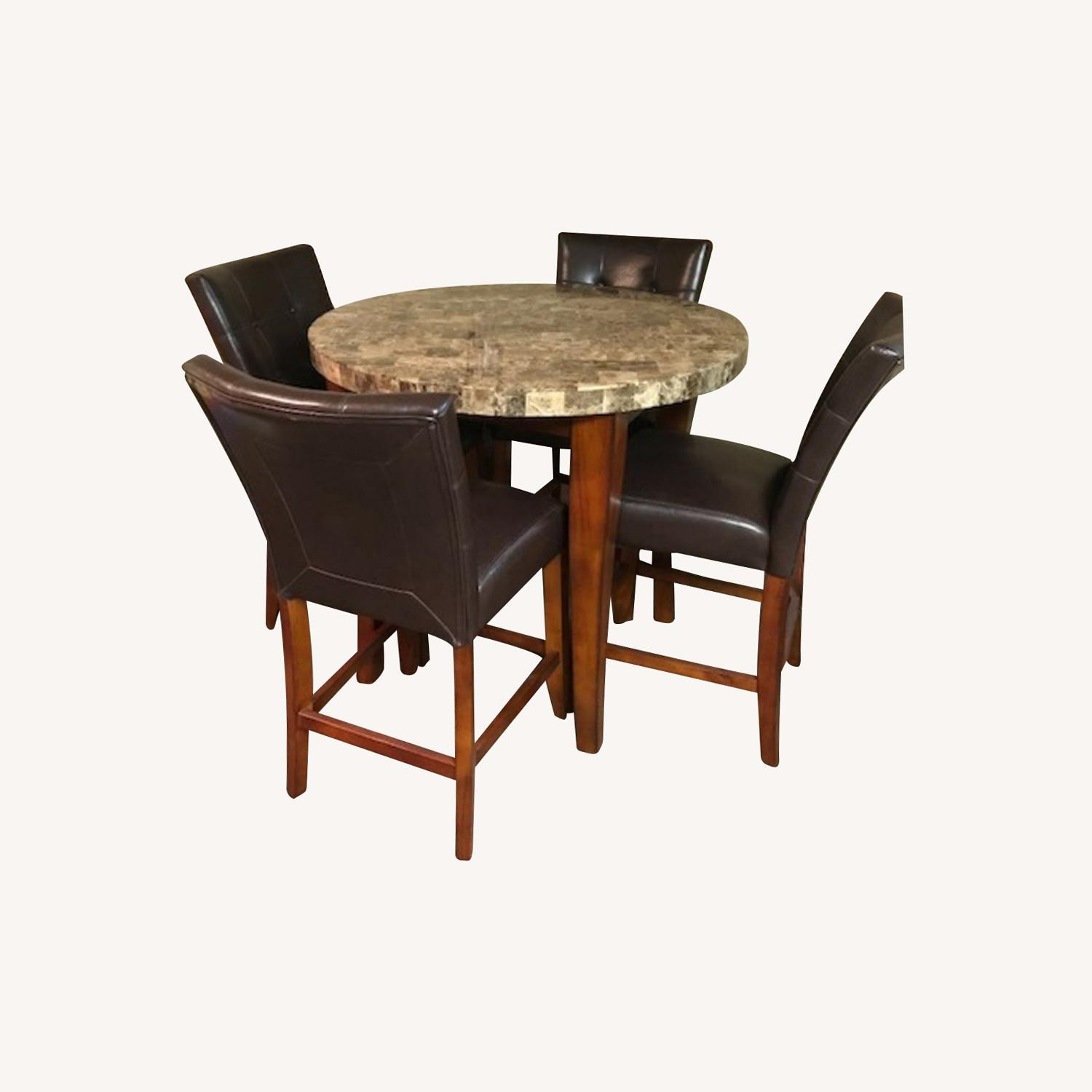 Bob's Discount Furniture Bar Table and 4 Stools - image-0