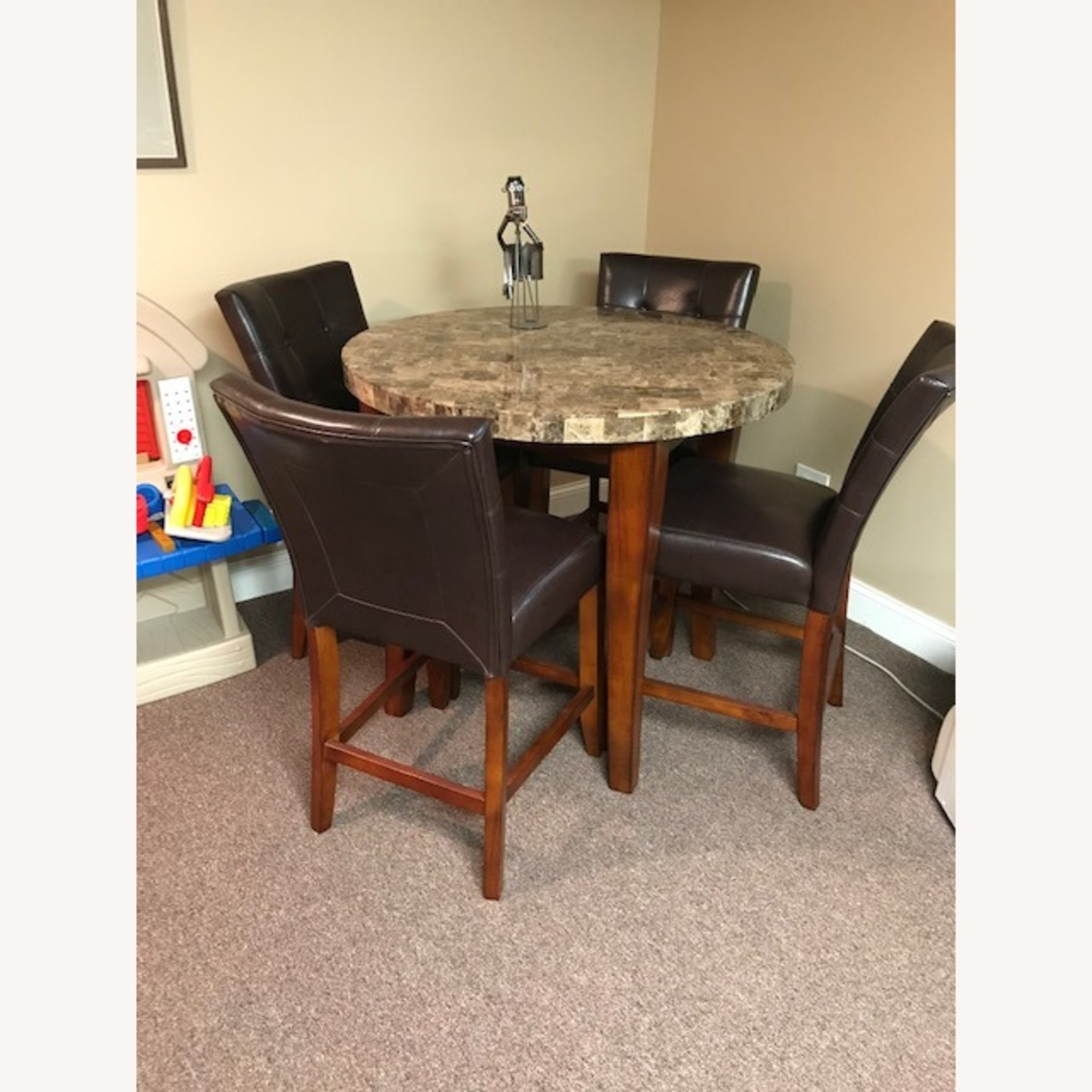 Bob's Discount Furniture Bar Table and 4 Stools - image-1