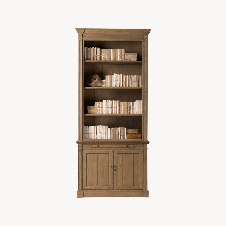 Restoration Hardware Library Bookcase Drifted Oak - image-4