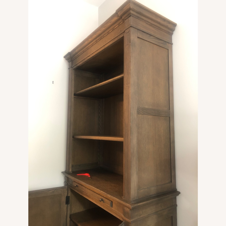 Restoration Hardware Library Bookcase Drifted Oak - image-7