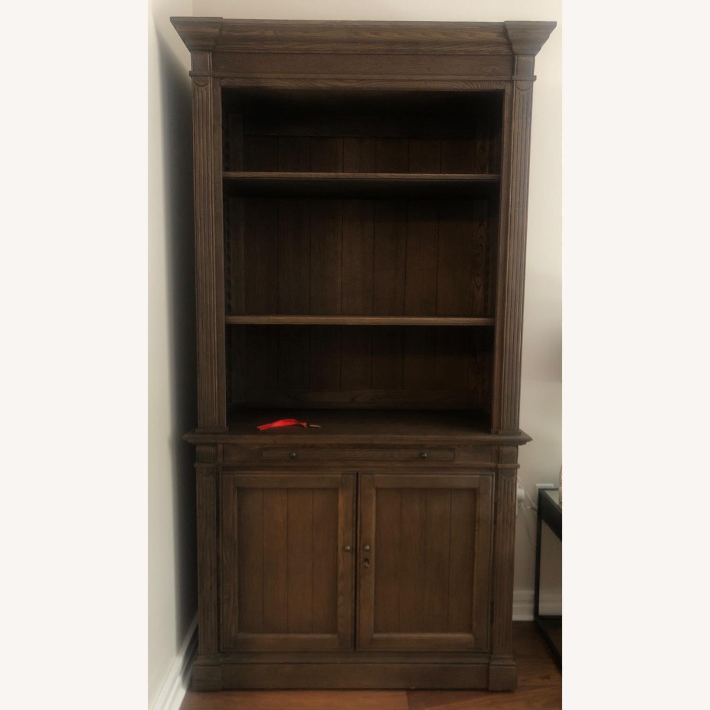 Restoration Hardware Library Bookcase Drifted Oak - image-0