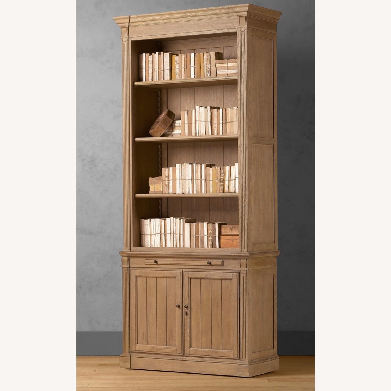 Restoration Hardware Library Bookcase Drifted Oak - image-2