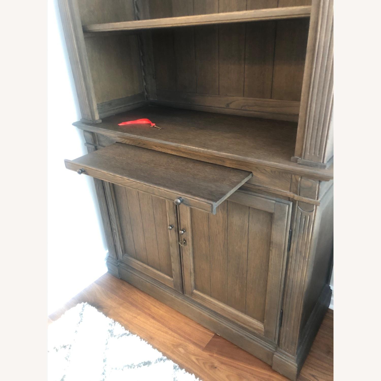 Restoration Hardware Library Bookcase Drifted Oak - image-5