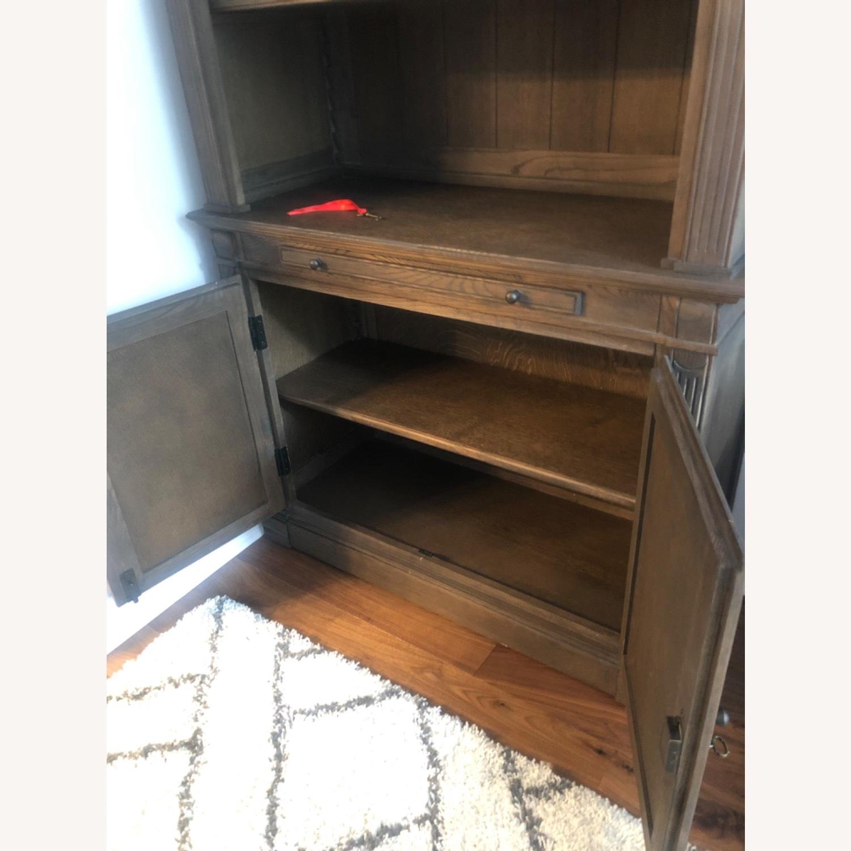 Restoration Hardware Library Bookcase Drifted Oak - image-6