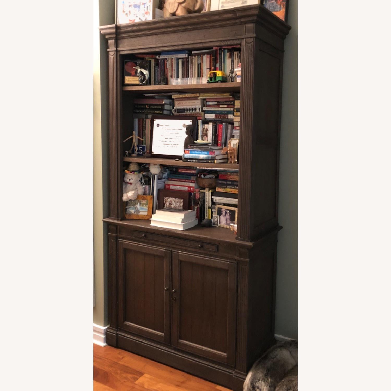 Restoration Hardware Library Bookcase Drifted Oak - image-3