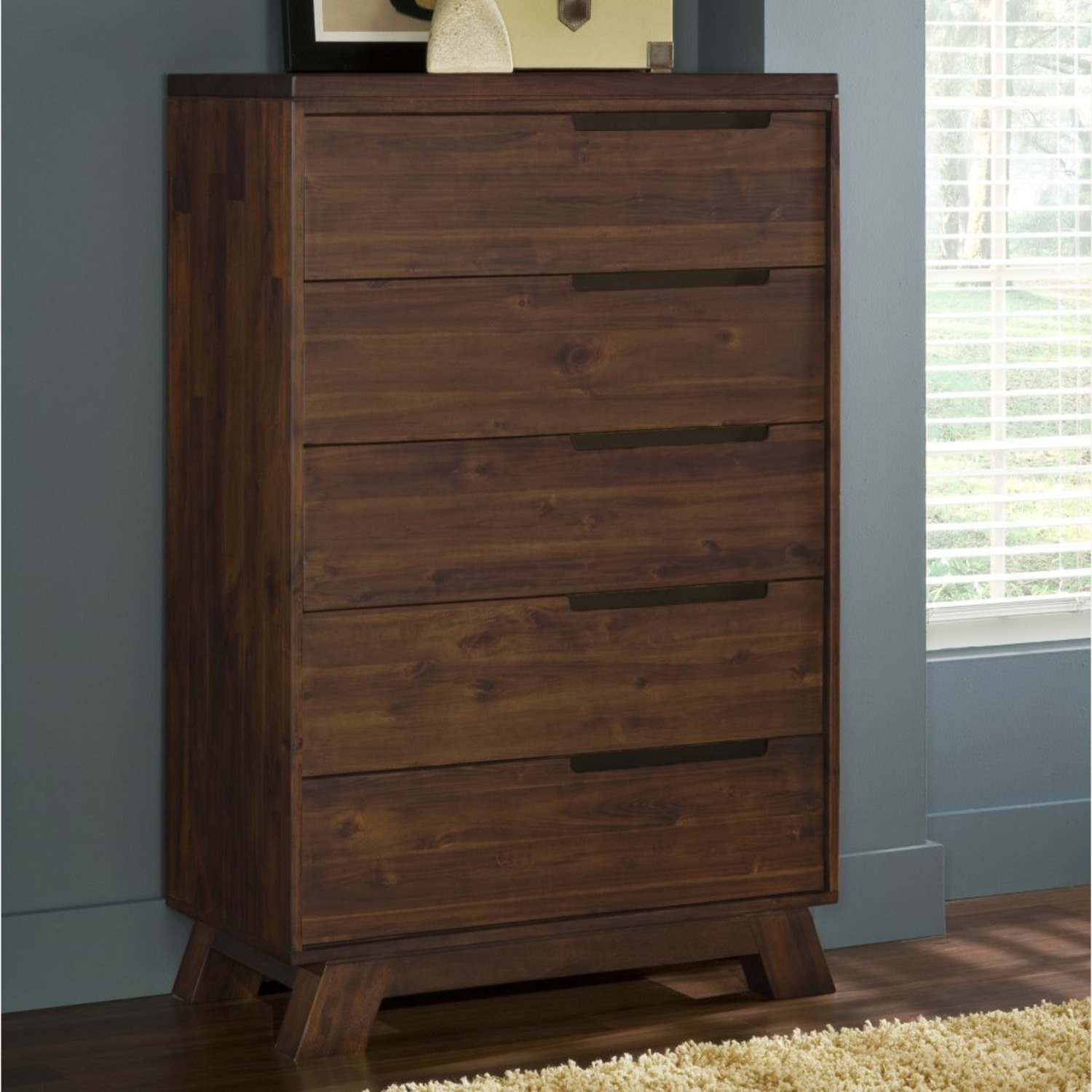 Modus Furniture Solid Wood 5 Drawer Chest - image-2