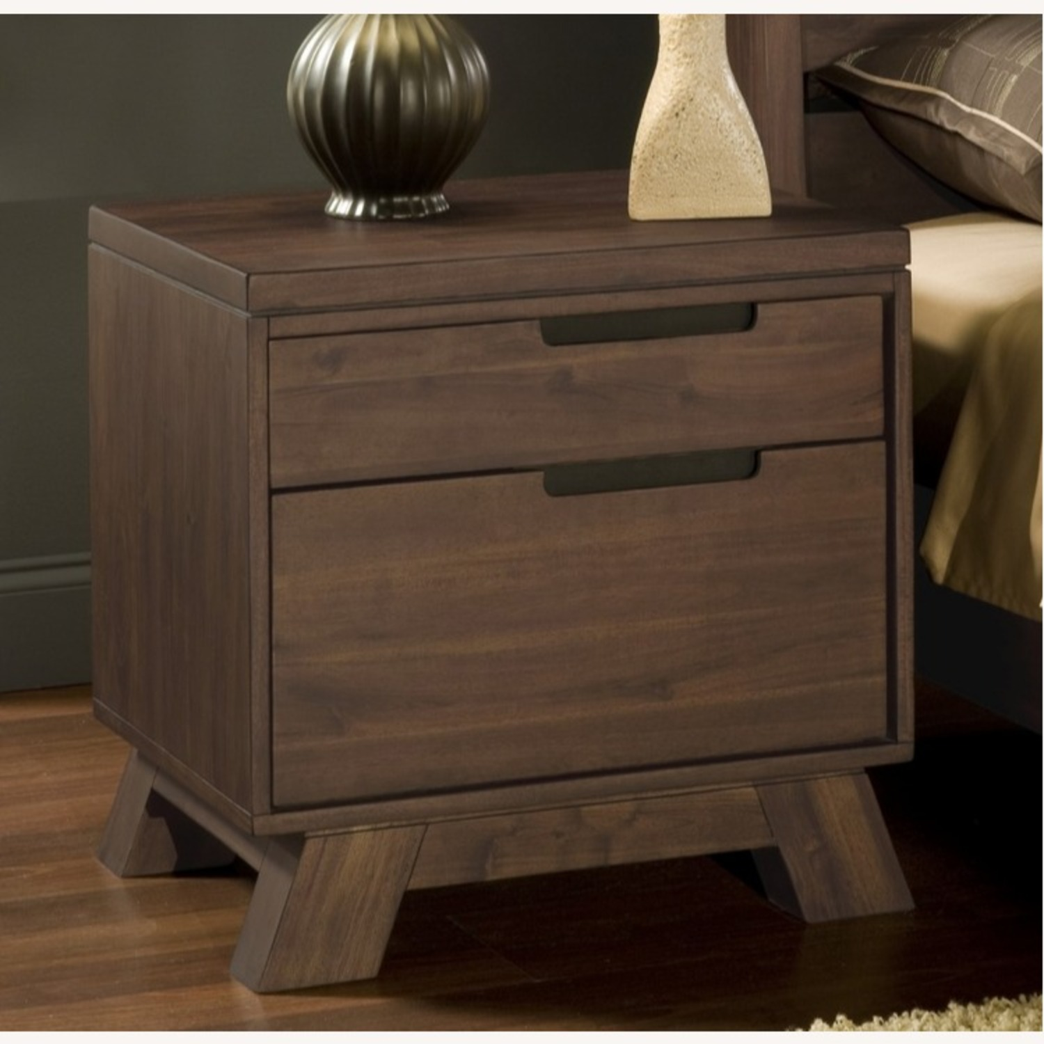 Modus Furniture Solid Wood 2 Drawer Nightstand - image-2