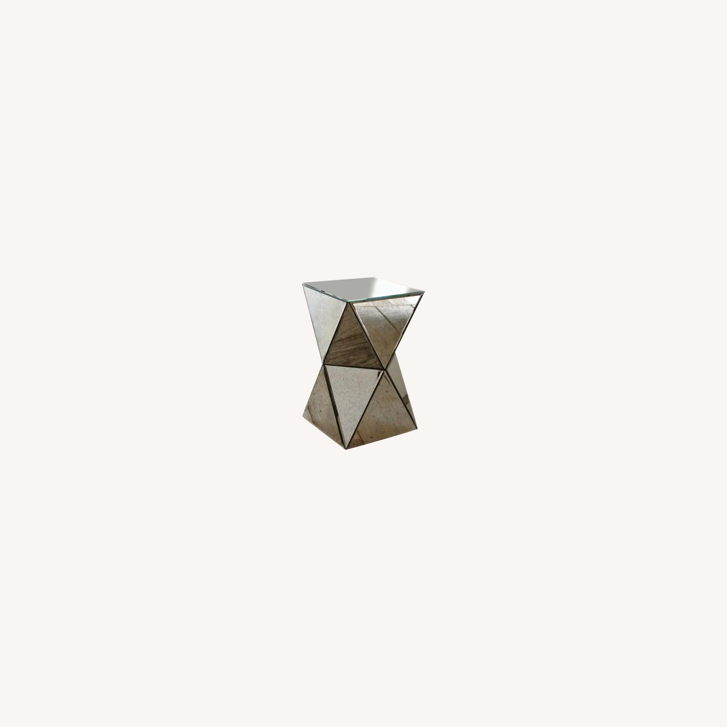 West Elm Faceted Mirror Side Table - image-0