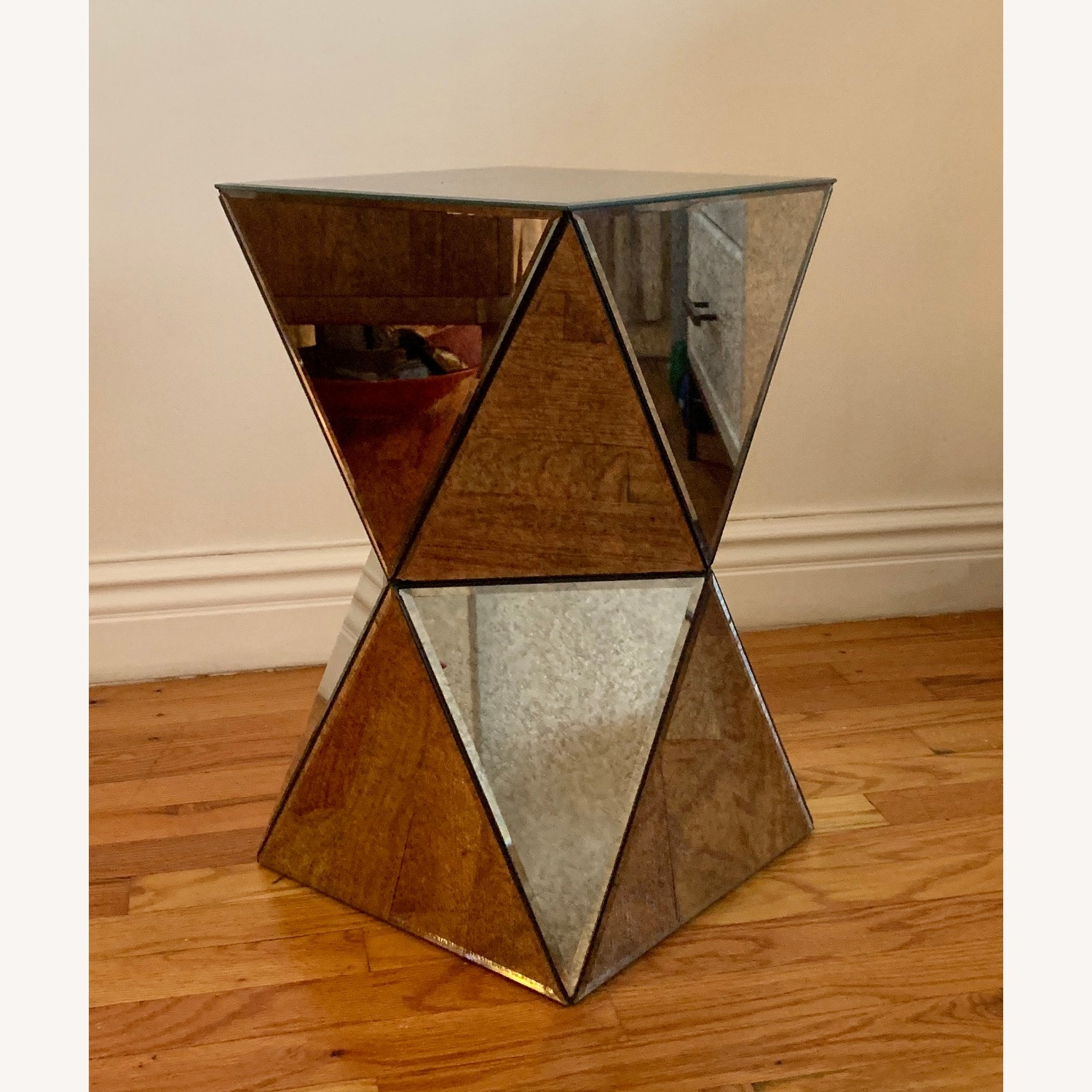 West Elm Faceted Mirror Side Table - image-2