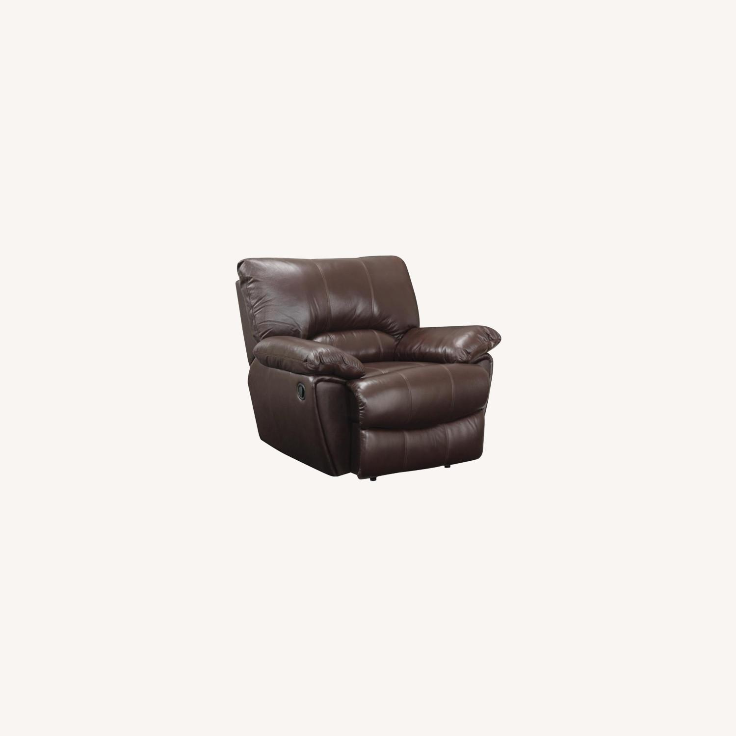 Recliner Chair In Chocolate Top Grain Leather - image-6