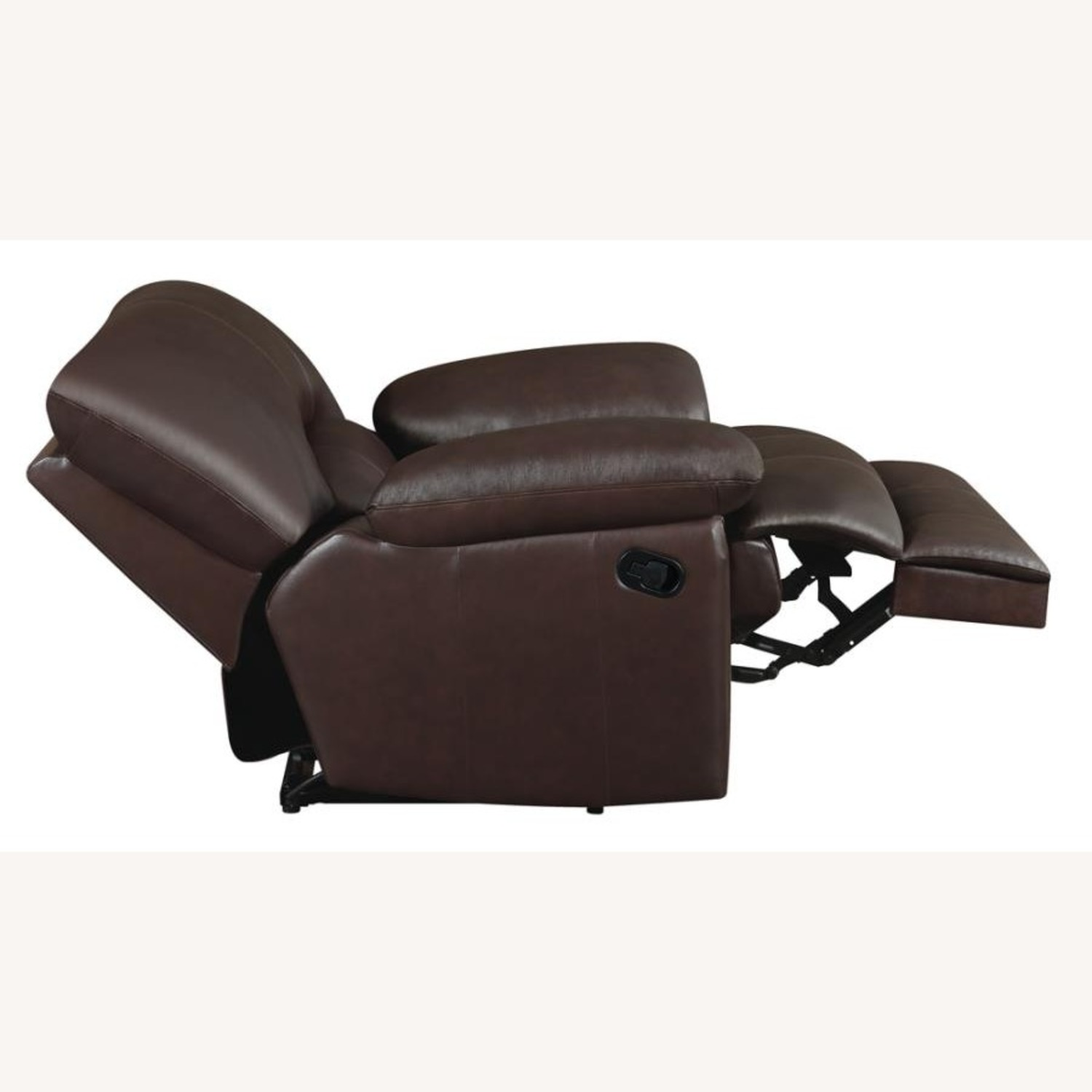 Recliner Chair In Chocolate Top Grain Leather - image-4
