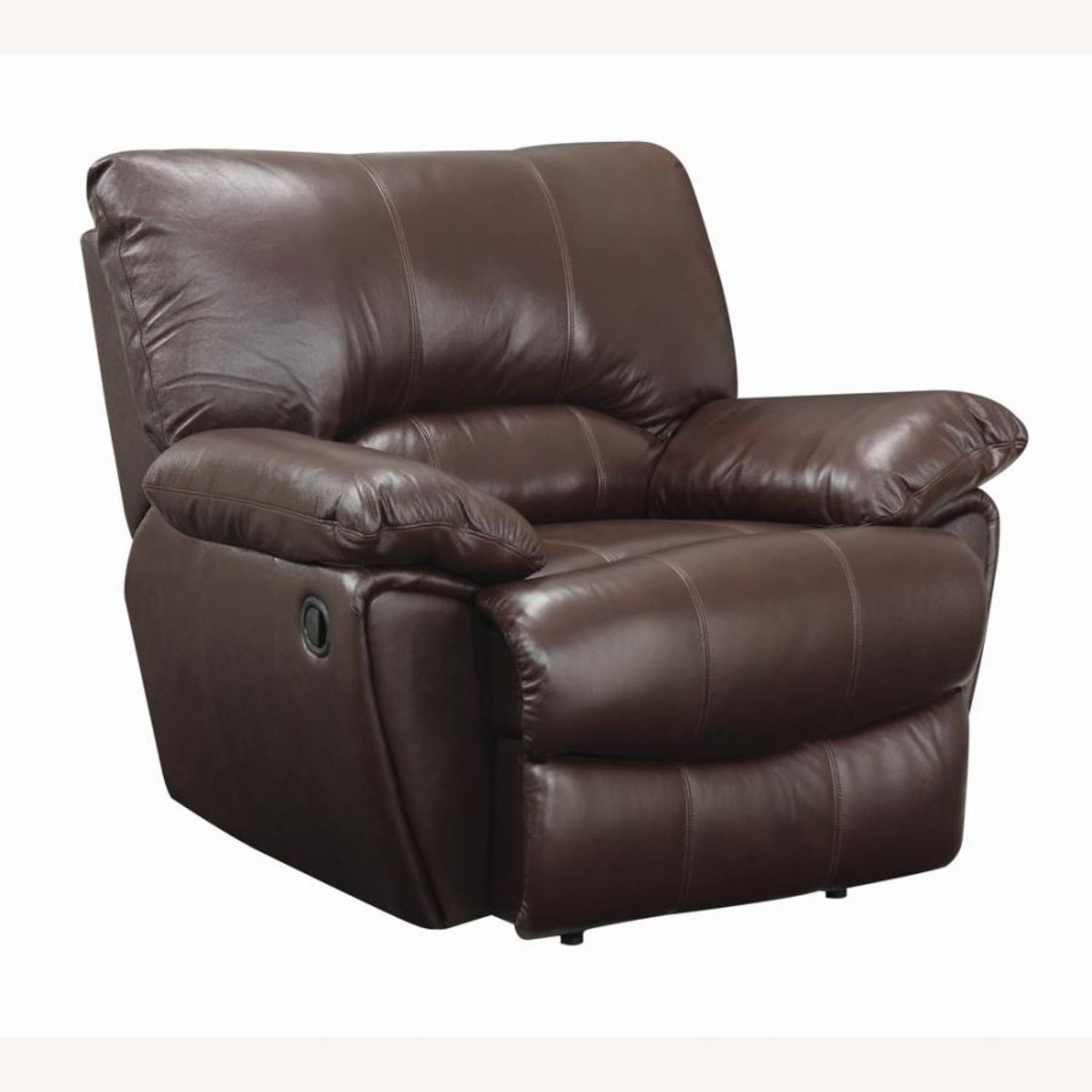 Recliner Chair In Chocolate Top Grain Leather - image-0