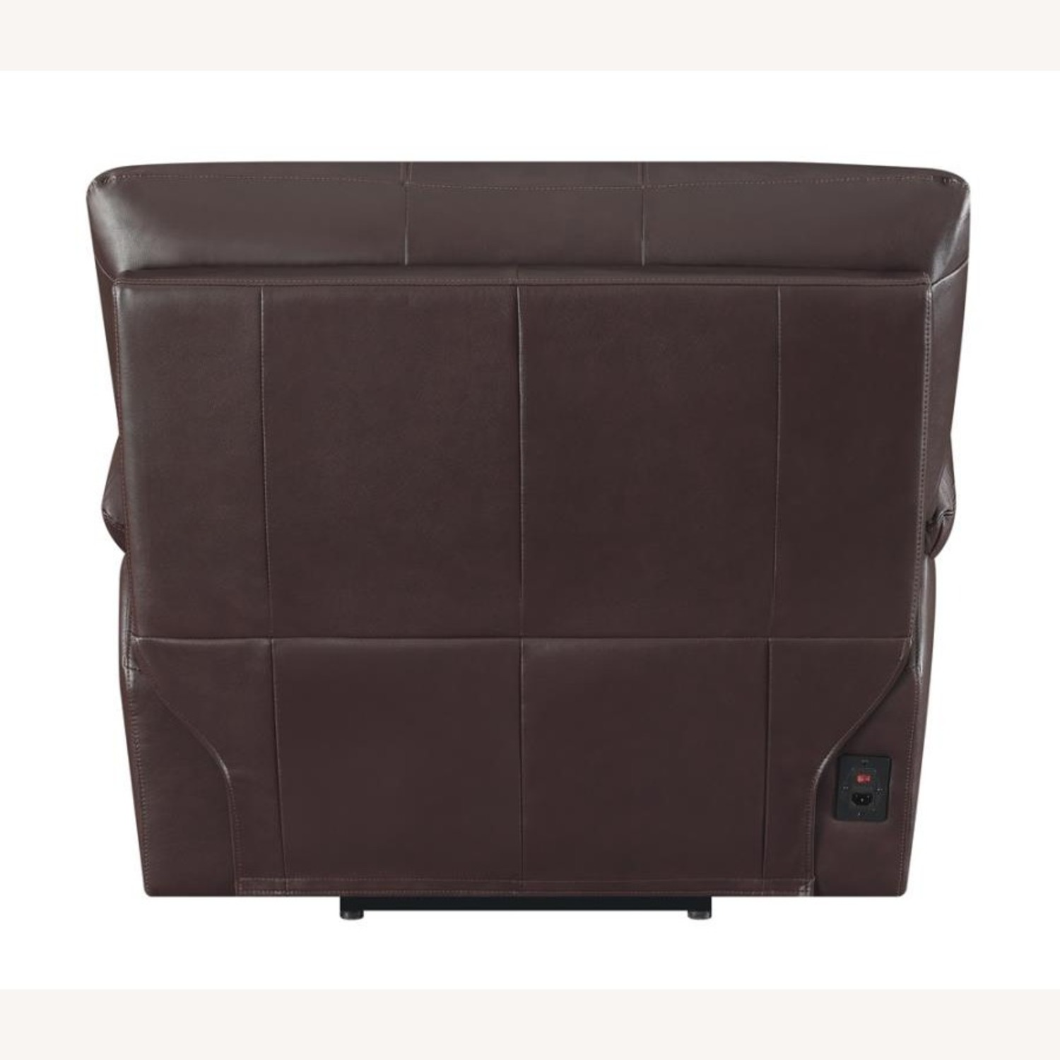 Recliner Chair In Chocolate Top Grain Leather - image-3