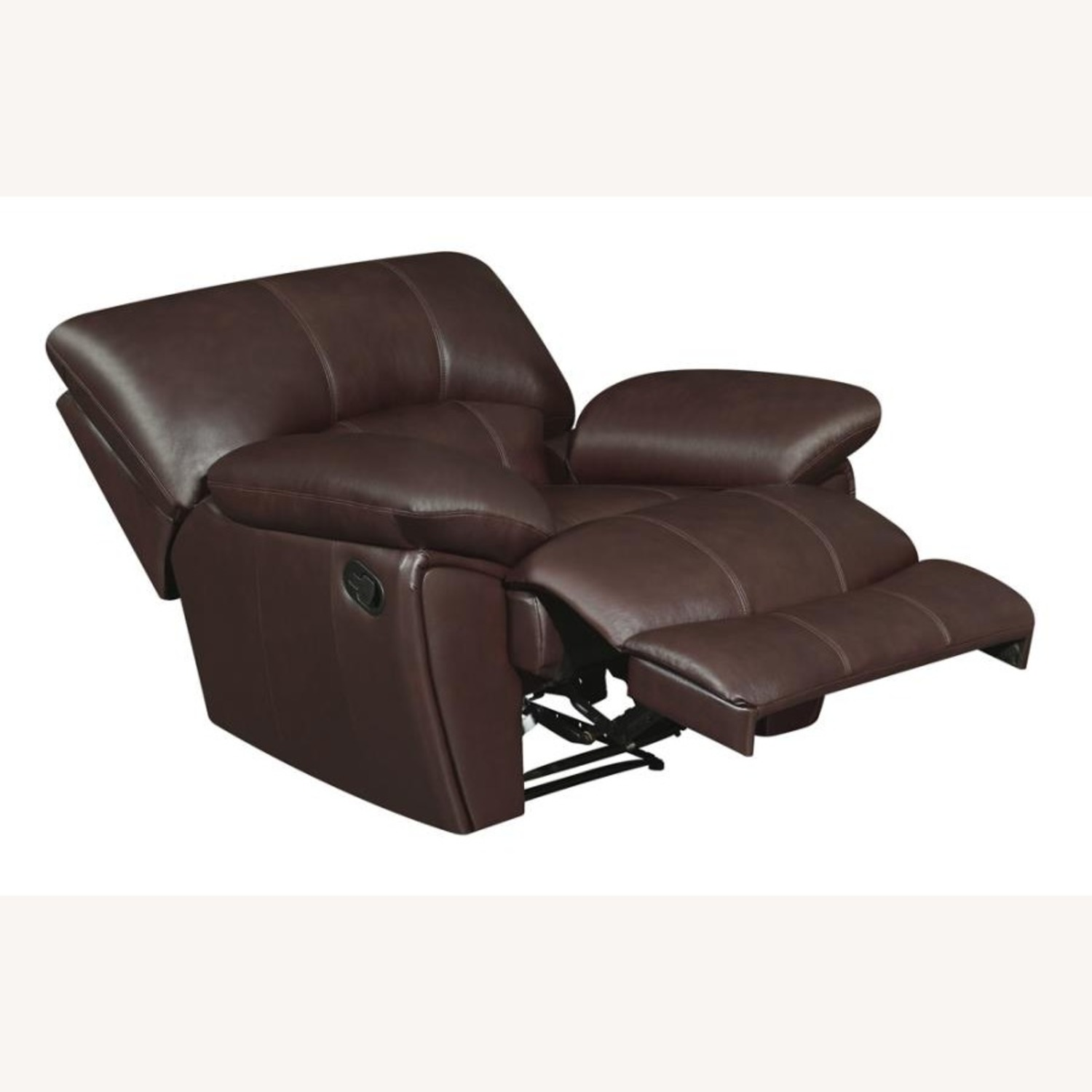 Recliner Chair In Chocolate Top Grain Leather - image-1