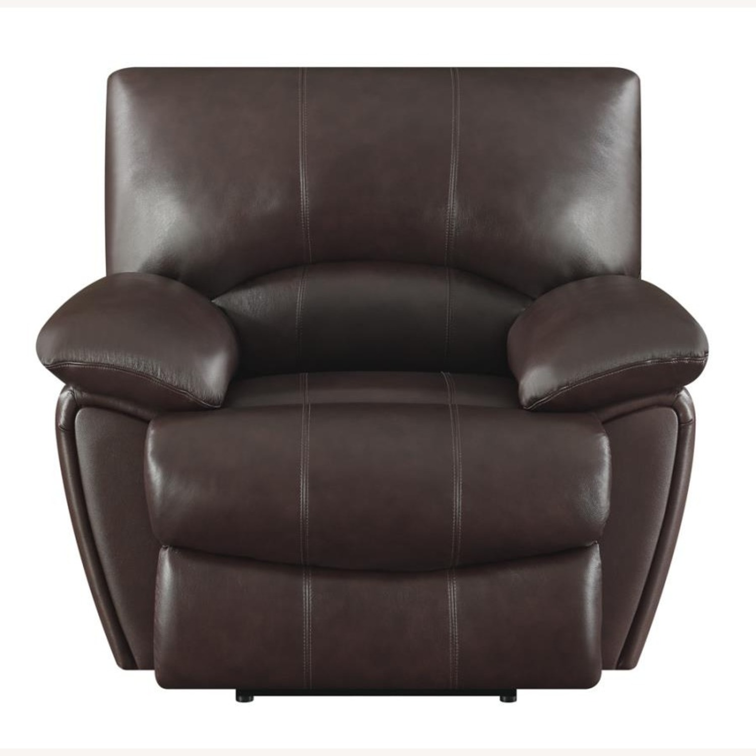 Recliner Chair In Chocolate Top Grain Leather - image-2