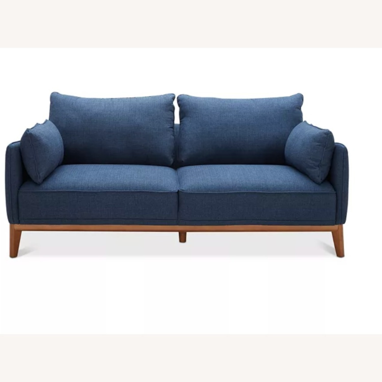 Macy's Midnight Blue Sofa - image-1