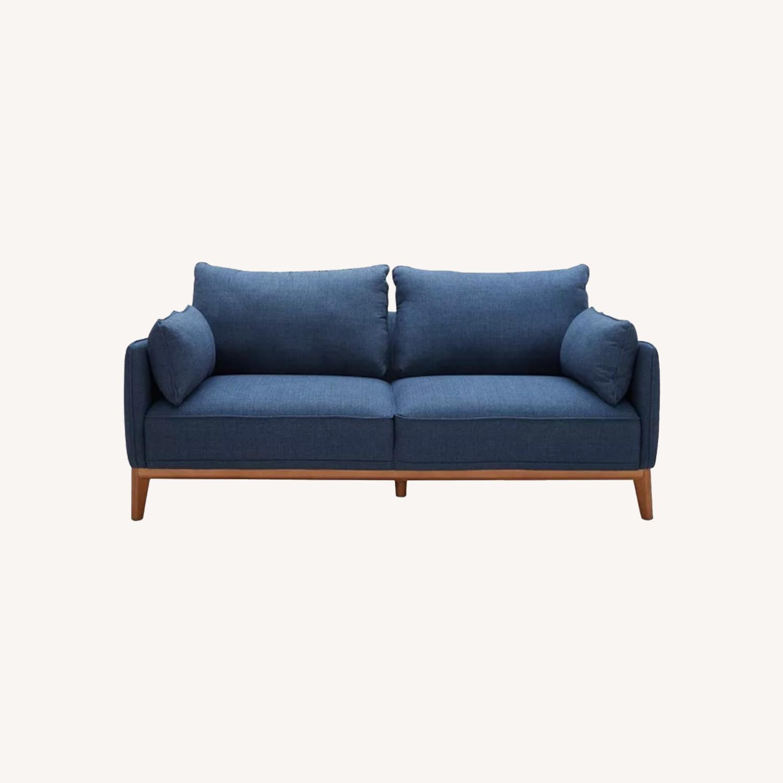 Macy's Midnight Blue Sofa - image-0