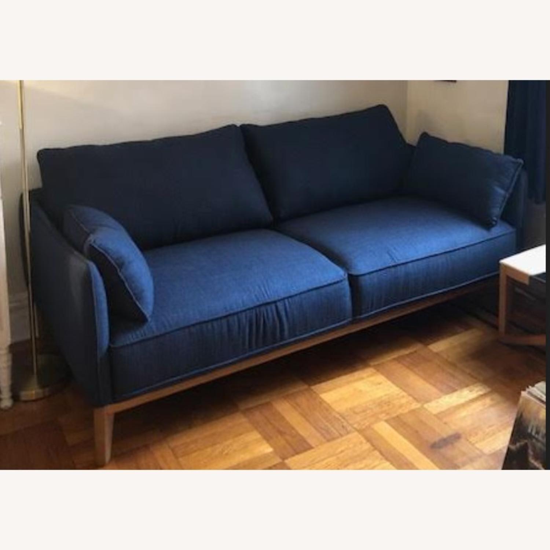 Macy's Midnight Blue Sofa - image-3