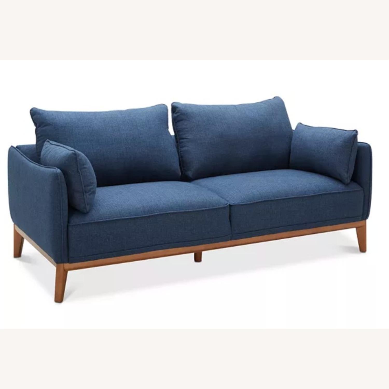 Macy's Midnight Blue Sofa - image-2