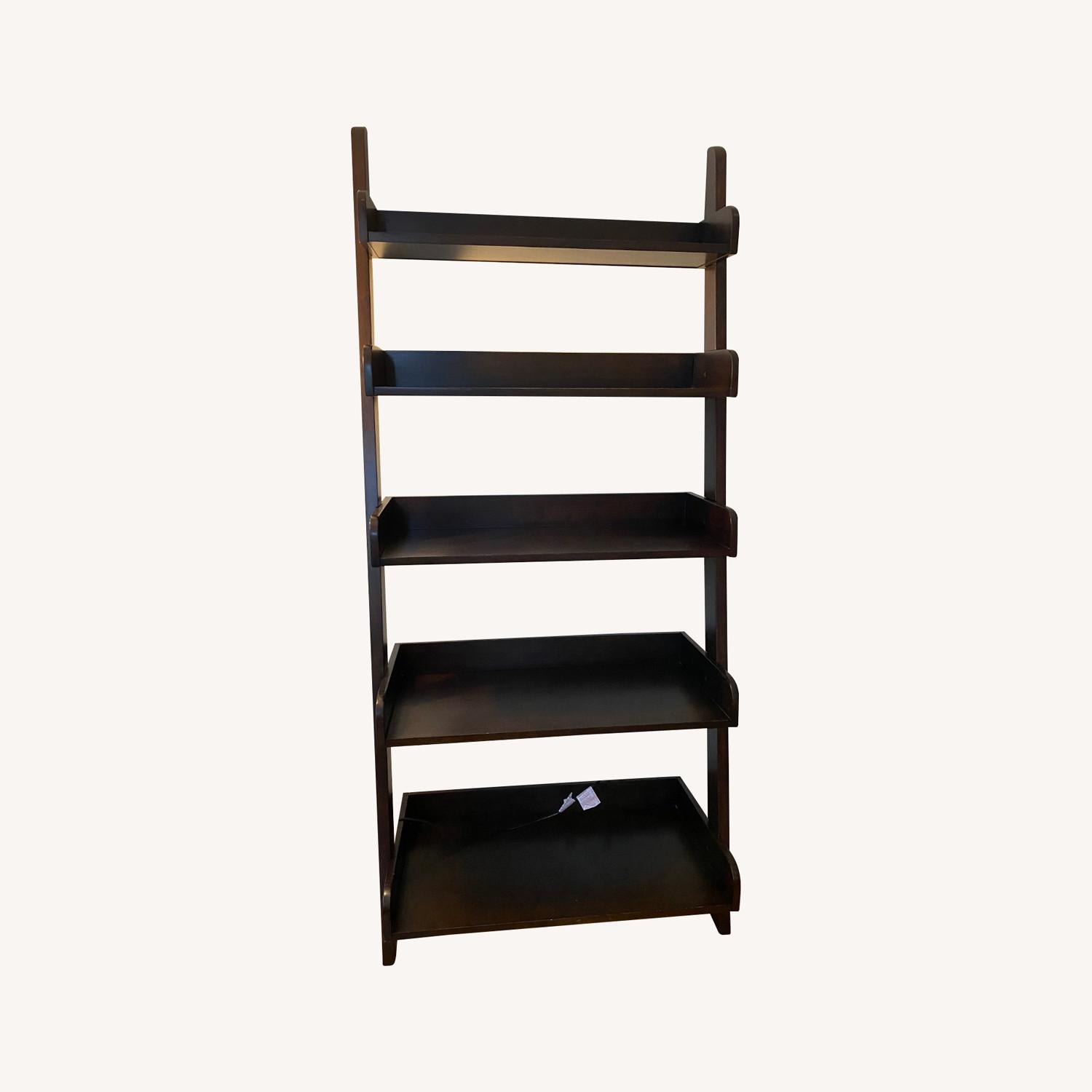 Pottery Barn Studio Ladder Shelf - Espresso Color - image-0
