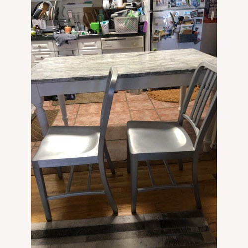 Used Set of 2 Commercial Grade Aluminum Dining Chairs for sale on AptDeco