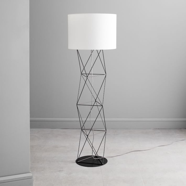 West Elm Amigo Modern Octahedron Floor Lamp - image-2