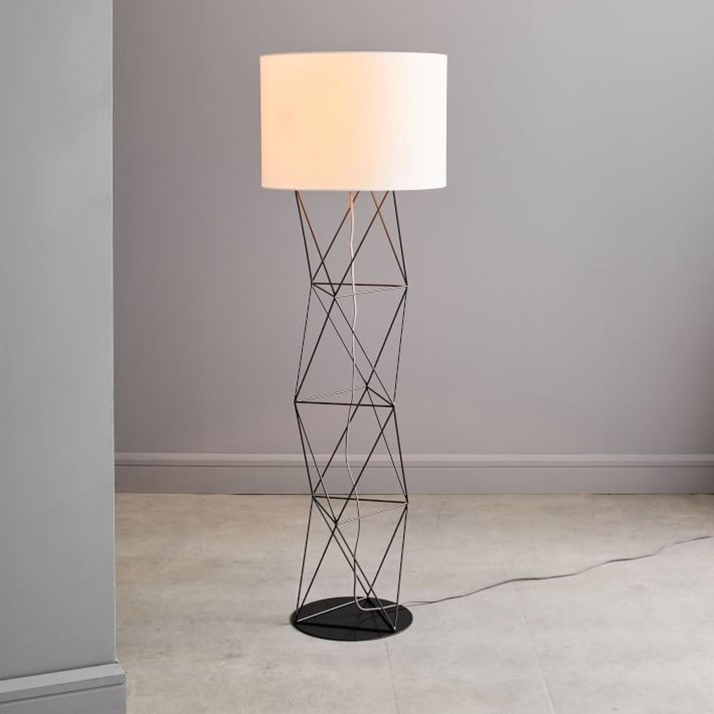 West Elm Amigo Modern Octahedron Floor Lamp - image-3