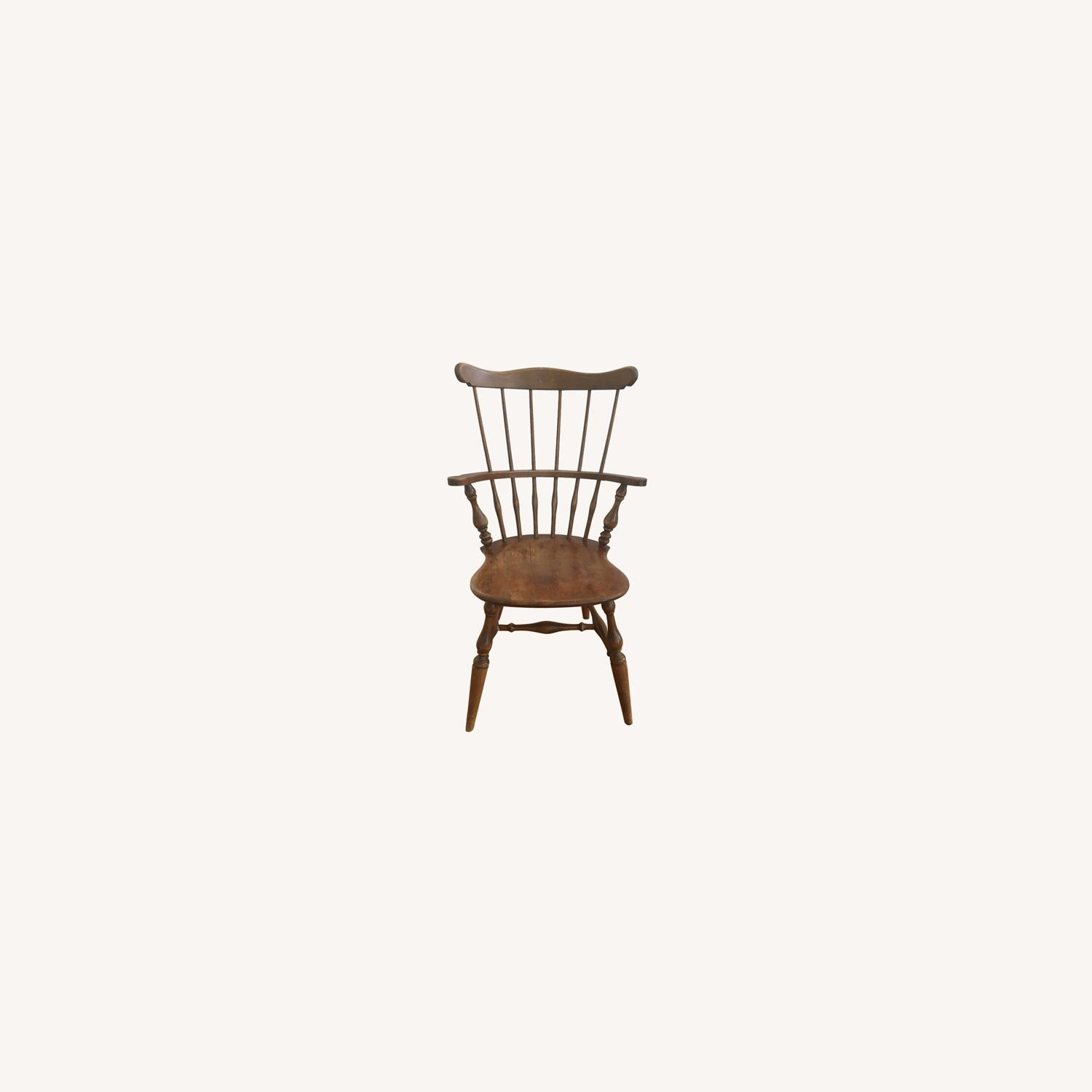 Ethan Allen Tall Comb Back Chair - image-0