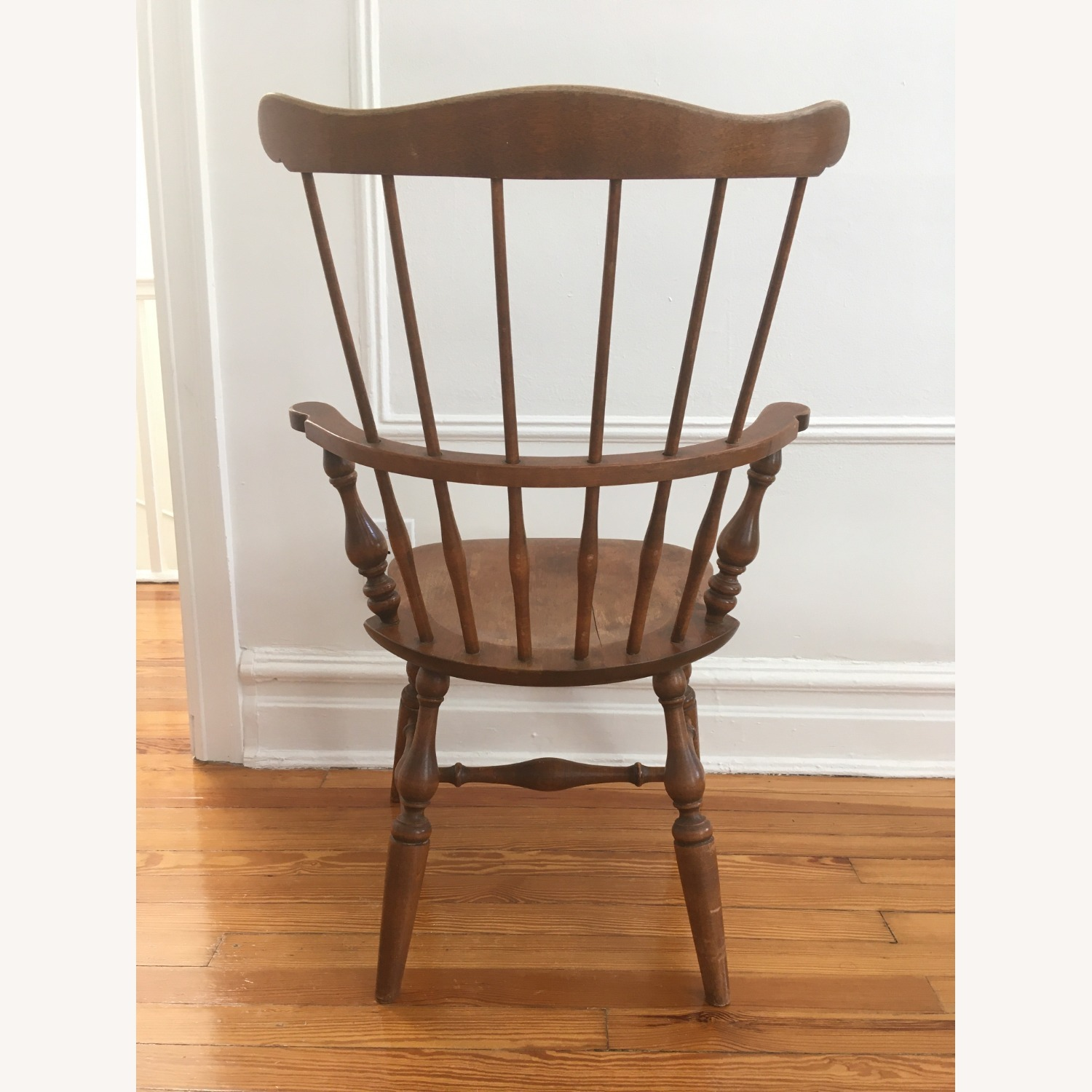 Ethan Allen Tall Comb Back Chair - image-3