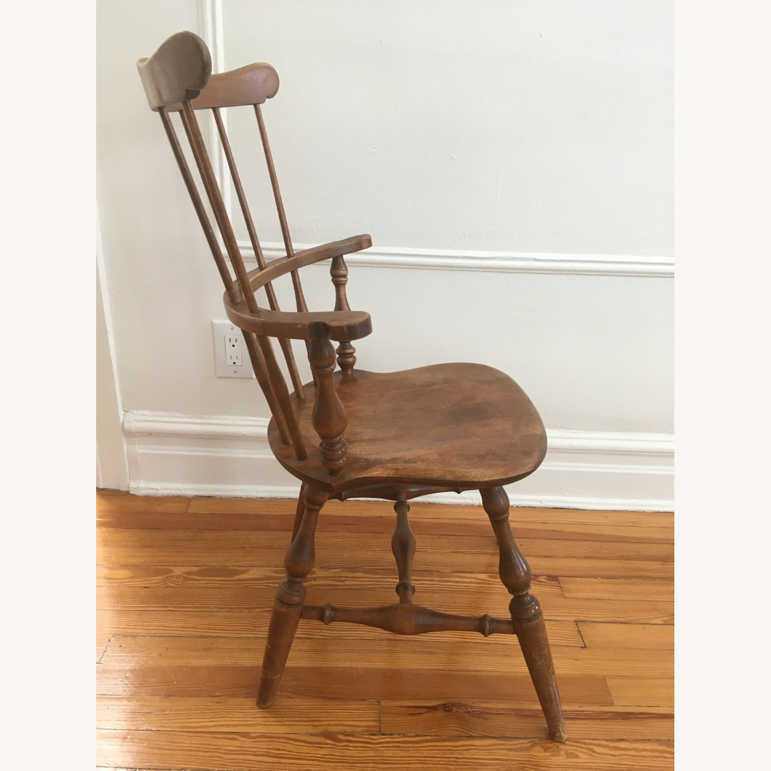 Ethan Allen Tall Comb Back Chair - image-2