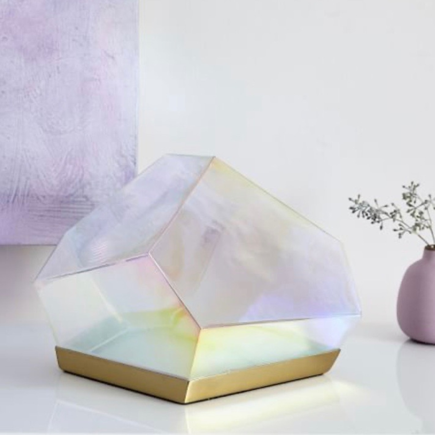 West Elm Glass Gem LED Table Lamp - image-1